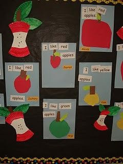 Apple activity with sight words (doesn't go to link for activity.  Pin for visual idea)