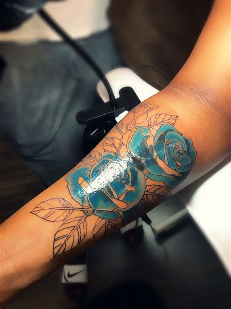 blue rose coverup tattoo rose design rose tattoos rose