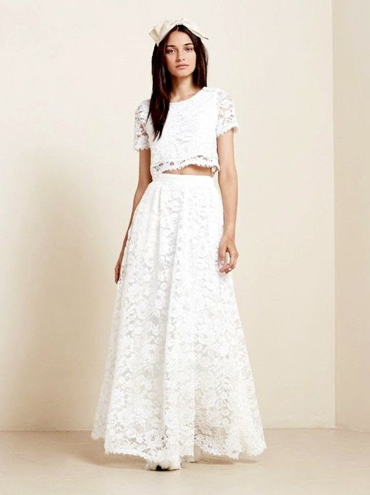 20 Alternative Wedding Looks Reformation Sofia Two Piece Lace Crop Top Maxi Skirt Non-Traditional Bride photo 14-20-Alternative-Wedding-Looks-Reformation-Sofia-Two-Piece-Lace-Crop-Top-Maxi-Skirt.jpg