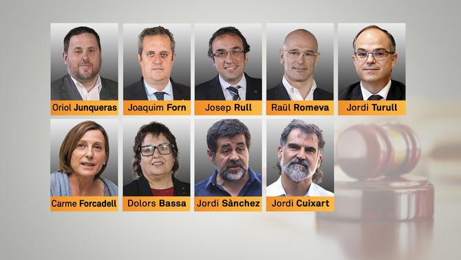Els 9 líders i polítics independentistes que seràn traslladats a presons catalanes