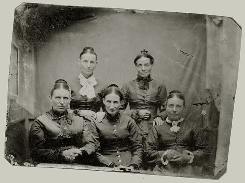 Tintype five women