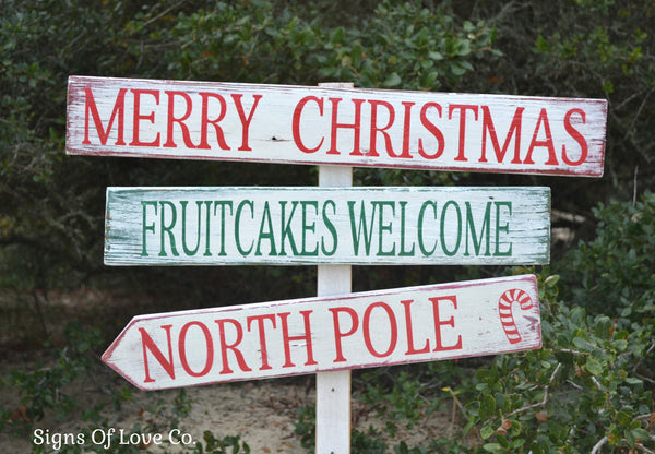 Pallet Decorations  – Rustic Stake Outdoor yard Signs Christmas Wood   rustic Signs signs