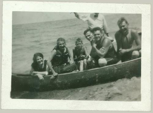 Gang in the canoe