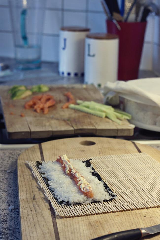 sushi listo enrollar