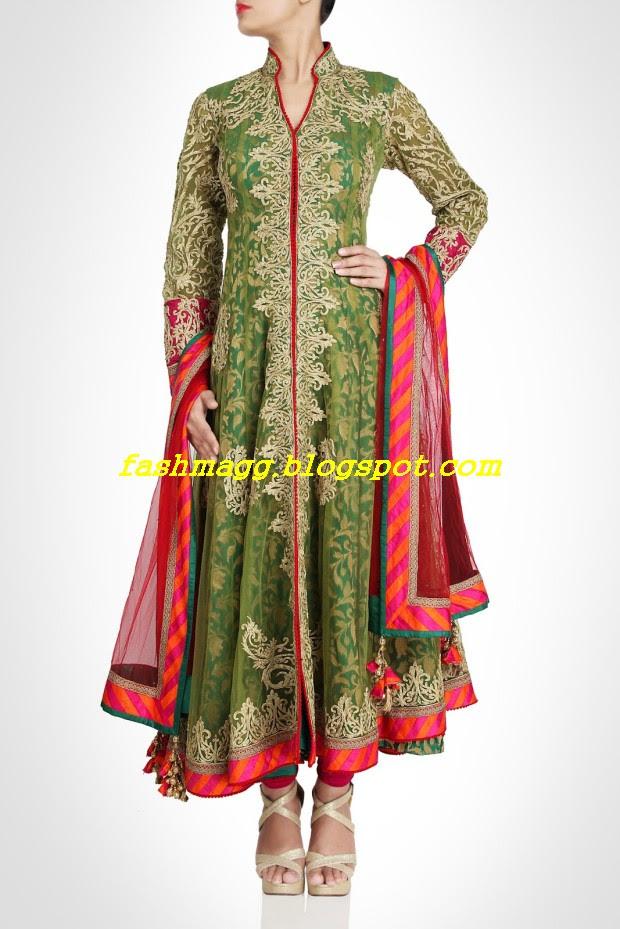 Amazing-Bridal-Wear-Indian-Fashionable-Dress-Designs-for-Cute-Girls-12