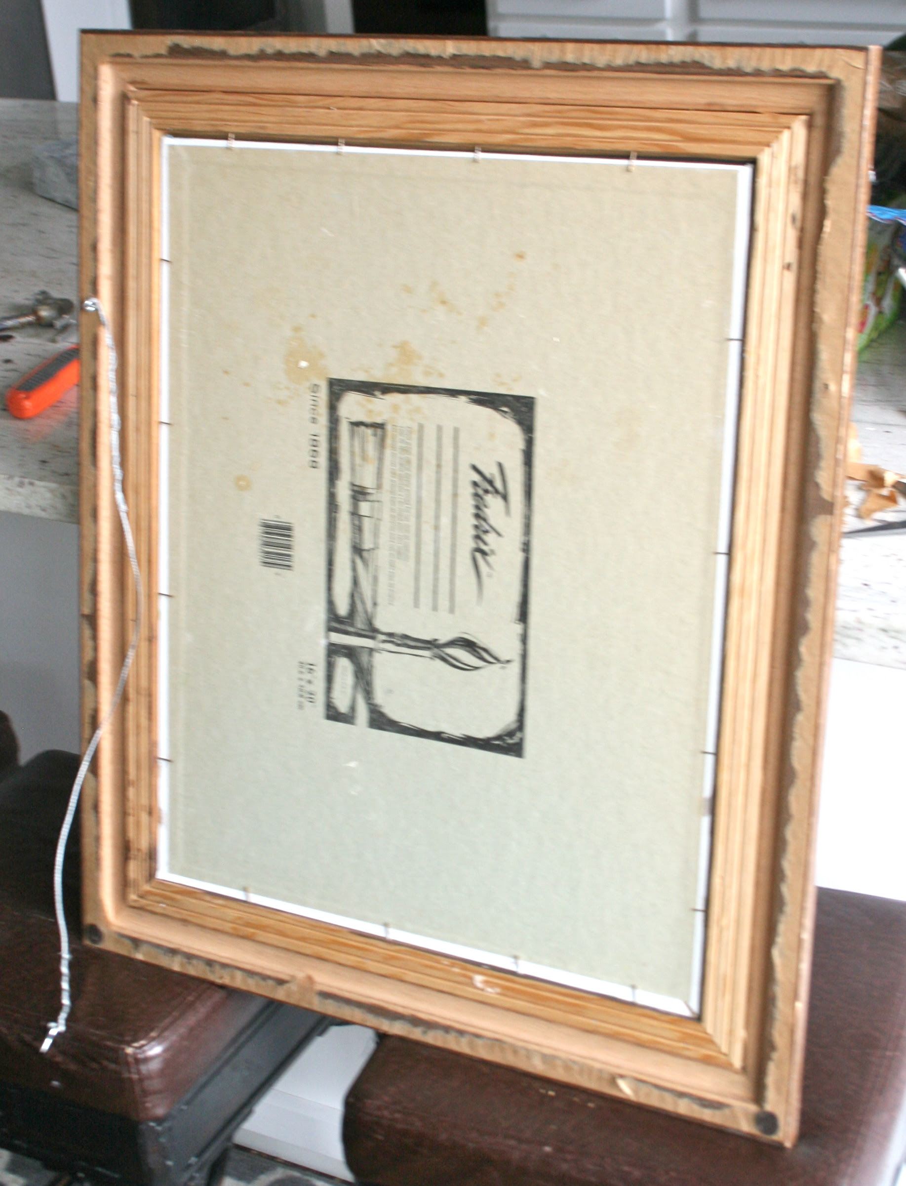 How To Update A Frame With Paper Backing This Bold Home