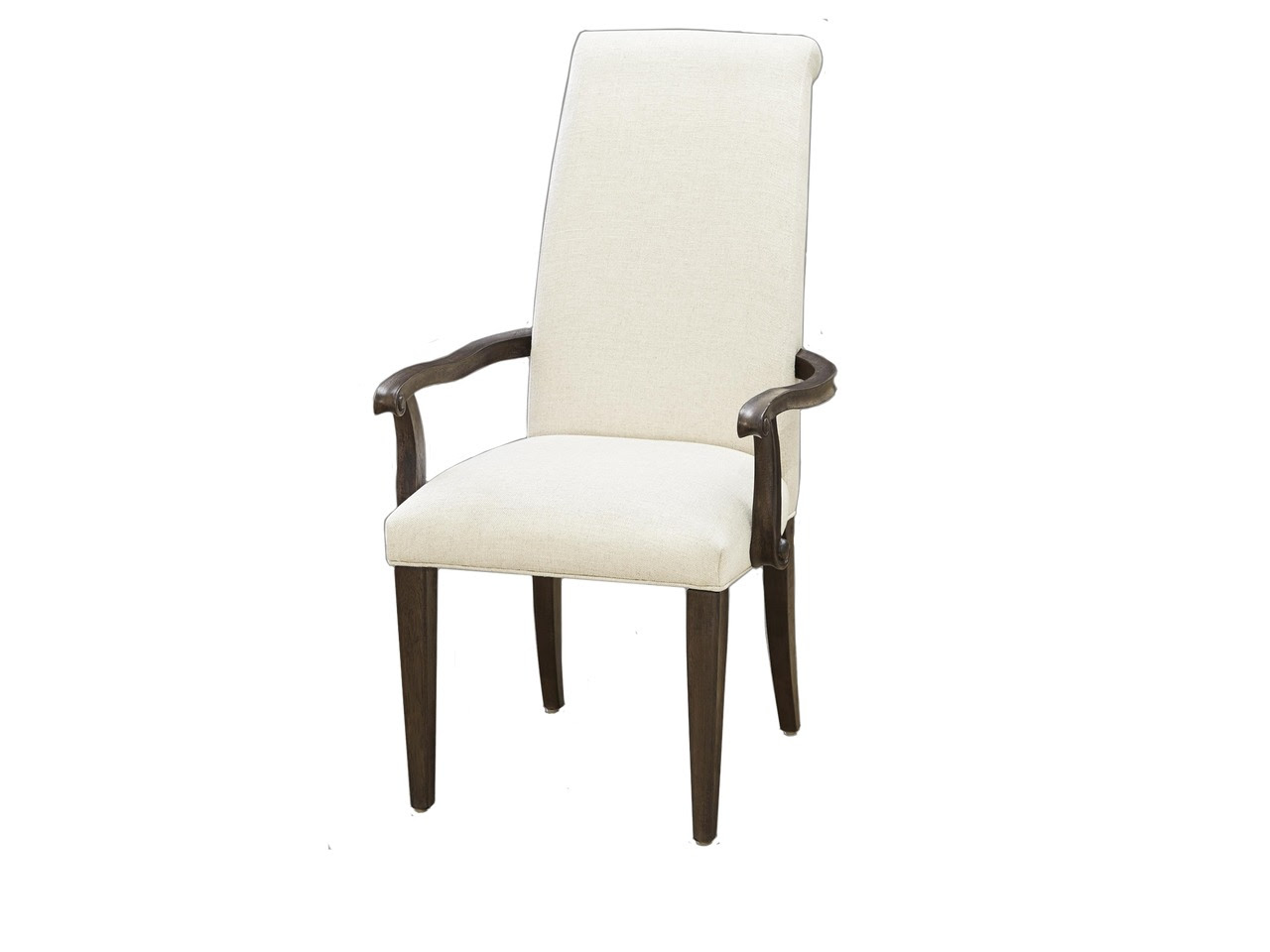 Pair of 2 Upholstered Dining Arm Chairs