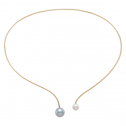 Pearl Wire Choker Necklace