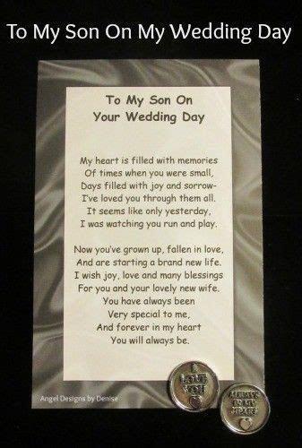 To My Son on Your Wedding Day token set    Pinteres