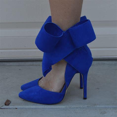 Blue Bow Heels   Mad Heel
