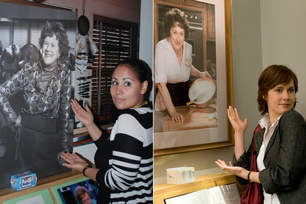 Alejandra and Julie Powell and Julia Child
