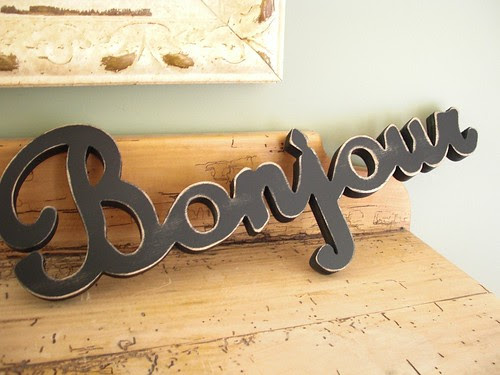 1-Bonjour Wood Sign Painted from signsofadaydreamer