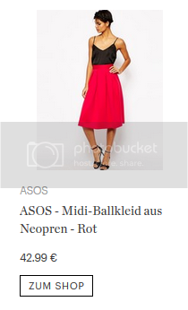 ASOS – Midi-Ballkleid aus Neopren