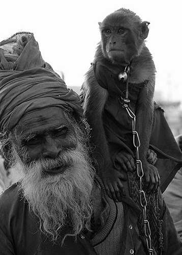 The Sadhu and His Pet Monkey by firoze shakir photographerno1