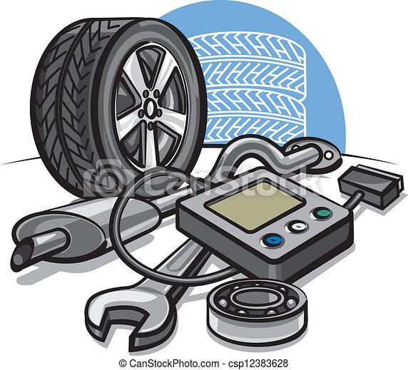 Vector Illustration of Car service concept csp12383628 ...