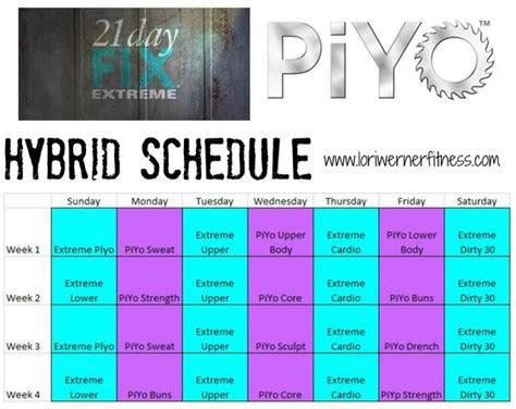 day fix piyo hybrid workout piyo  day fix extreme