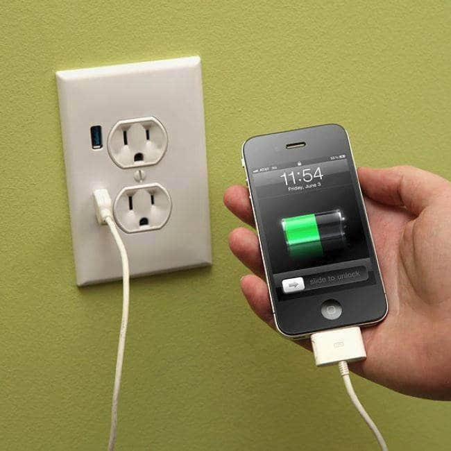 wall plus usb outlet