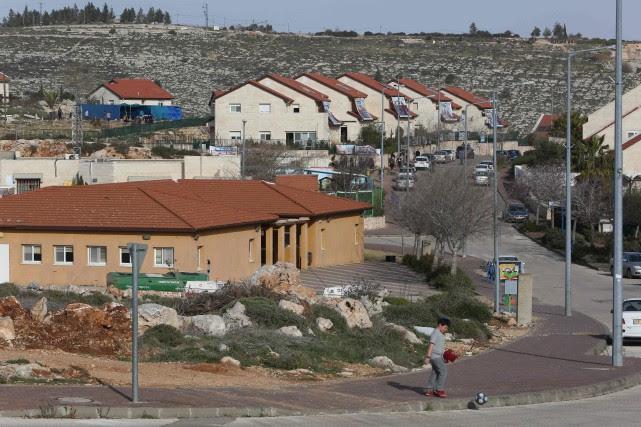 Sur la photo, une colonie de la Cisjordanie.... (Photo MENAHEM KAHANA, Archives AFP)
