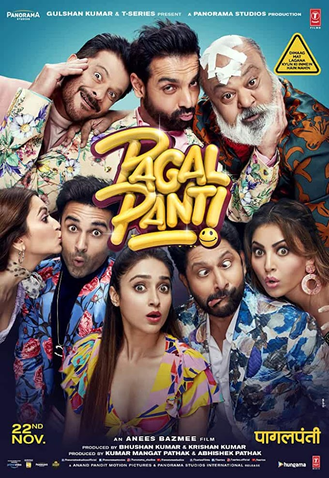 Pagalpanti (2019) Hindi Full Bollywood Movie 720p PreDVDRip x264 AAC [1.2GB] Download