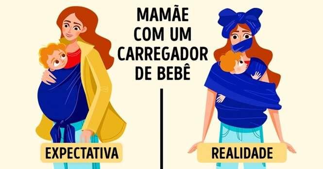 Ilustrações que somente as mães vão entender