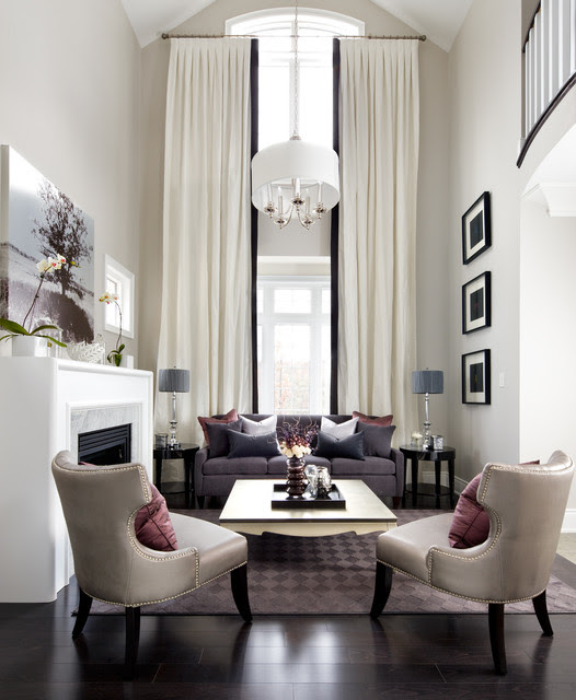 Jane Lockhart Interior Design - transitional - living room