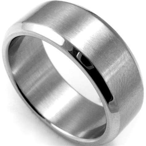 8MM Plain Stainless Steel Ring Band Size 7 15 Silver