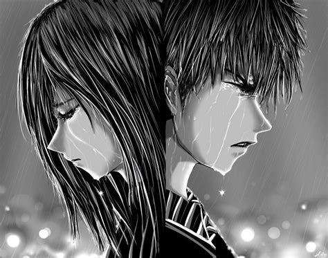 sad anime boy crying   rain  sad anime girl