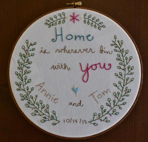 Annie & Tom's Wedding Embroidery