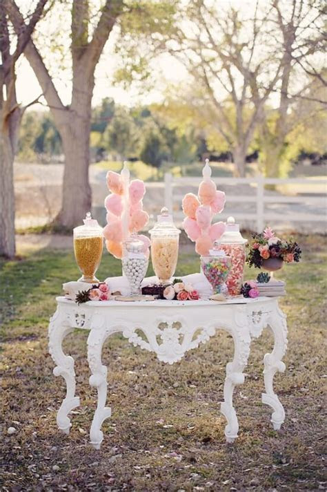 Vintage Wedding Candy Buffet Idea