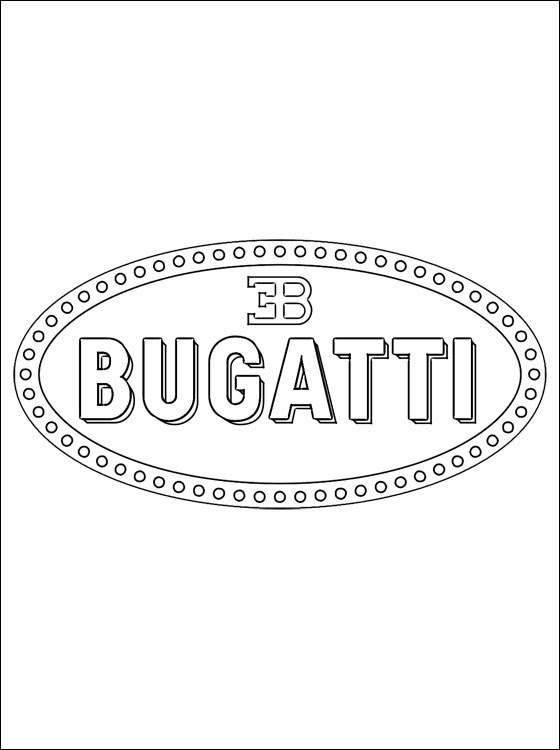 Coloring Page Bugatti Logo Coloring Pages