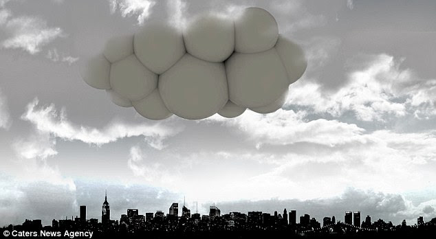 Incredible: An image of how Passing Cloud would look floating above a city