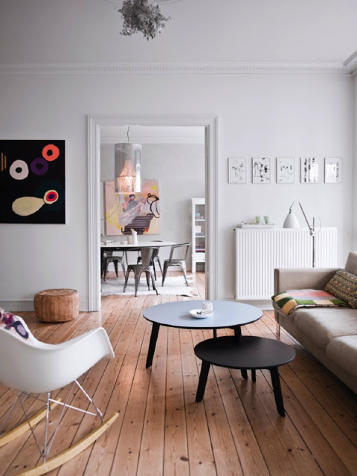A White Interior Design With Wooden Flooring