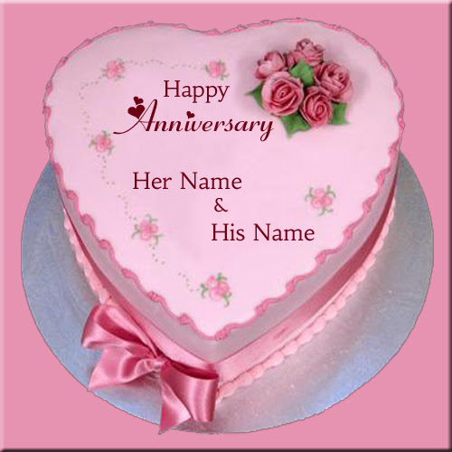 Write Name On Beautiful Chocolate Cake For Anniversary