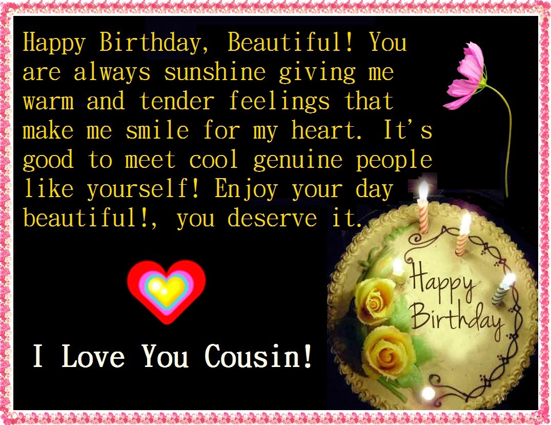 Great Cousin Quotes Images Happy Birthday Cousin 150 Funny
