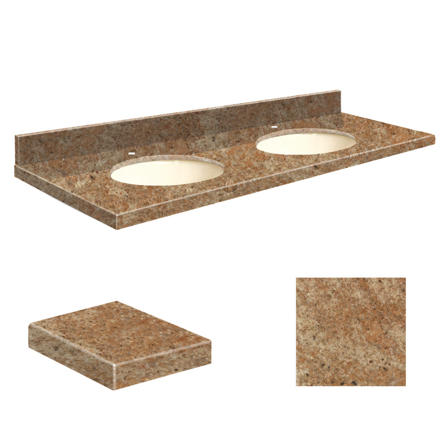 Slab Granite Countertops Double Sink Granite Vanity Top