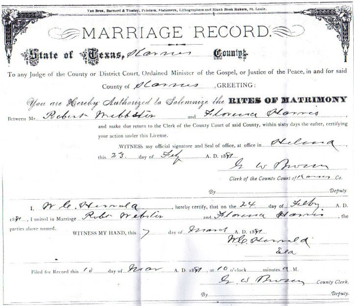 New Blog 1: Marriage License Harris County