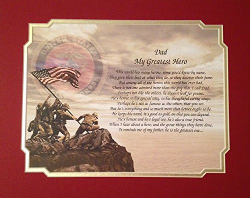 Gift For Marine Dad My Greatest Hero Poem For Fathers Day