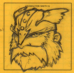 AD&D Character Sketch: Ott Gravelspit, dwarf fighter