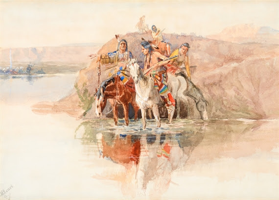 Charles Marion Russell, Scouting the Camp