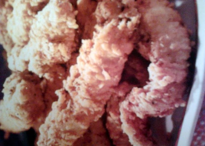Recipe of Award-winning Fried chicken fingers with a tang dip sauce