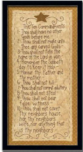 Ten Commandments Framed Home Decor Ebay