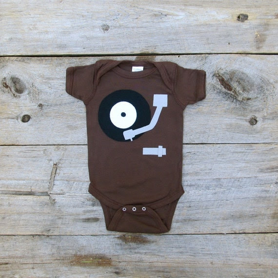 Record Player Onesie