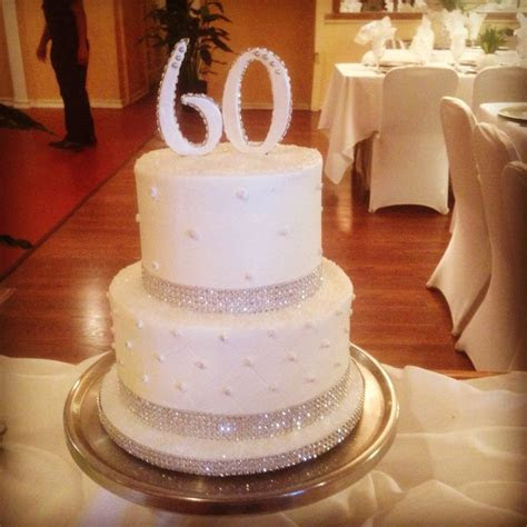 My parent's 60th. Wedding Anniversary Cake.   Food
