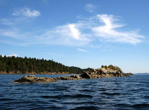 Rocks, across Wallace Island