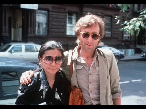 John Lennon and his wife, Yoko Ono, arrive at The Hit Factory, a recording studio in New York City on Aug. 22, 1980.