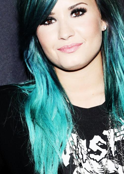 Demi Demi Lovato edits blue hair demi lovato edit neverbreaks •