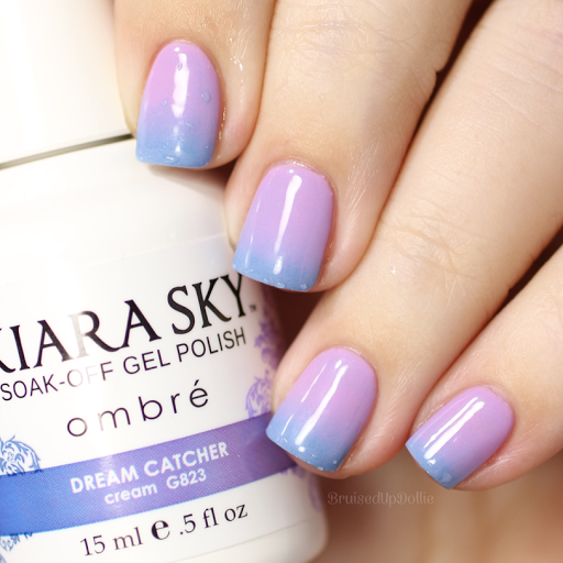 Purple Holographic Nails Ombre