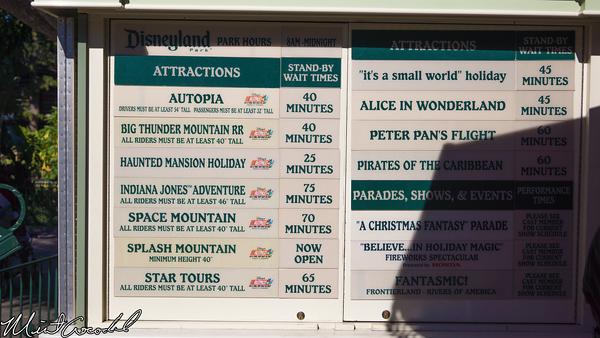 Disneyland Resort, Disneyland, Christmas Time, Christmas, Time, Busy, Wait, Time, Board