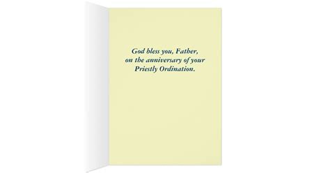 Anniversary of Priestly Ordination Greeting Card   Zazzle