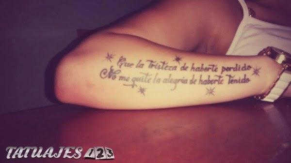Frase Larga En El Brazo Tatuajes 123